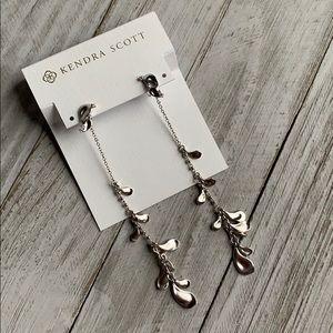 Kendra Scott Pamela Dangle Earrings NEW Silver